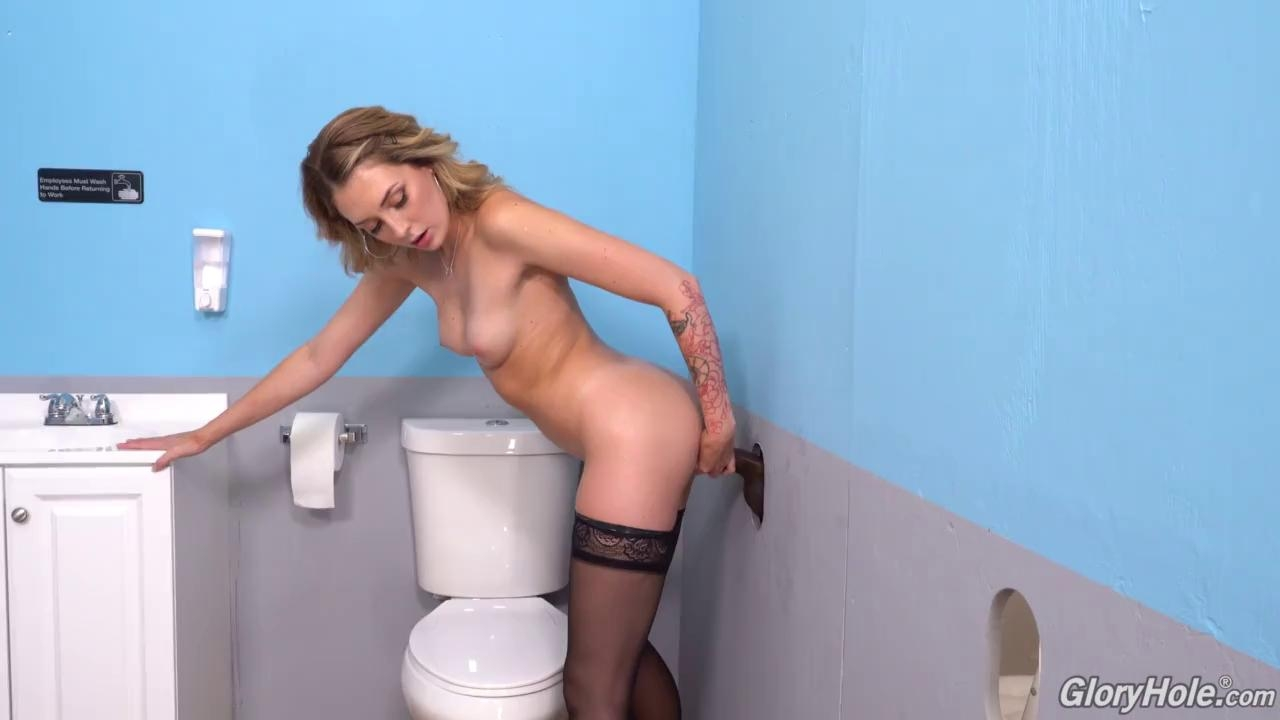 GLORYHOLE INITIATIONS - CHARLOTTE SINS TAKES BBC ON HER LUNCH BREAK