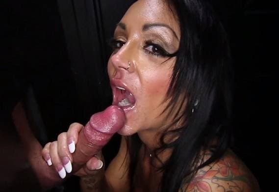 GLORYHOLE SECRETS - BUSTY ASHTON  LIKES EATING SEMEN 1ST VISIT