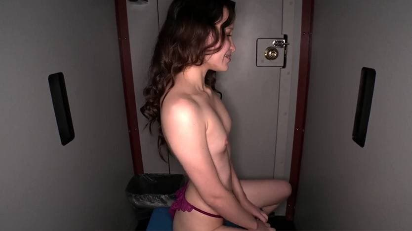 GLORYHOLE SWALLOW - YOUNG PETITE STRICTLY ON CUM DIET 1ST VISIT