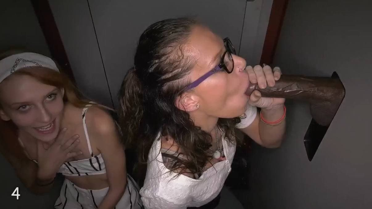 GLORYHOLE SWALLOW - ORAL SLUTS HANNA & A FRIEND 1ST VISIT