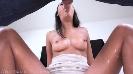 AMATEUR ALLURE - STUNNING VIENNA BLACK SUCKING DICK POV