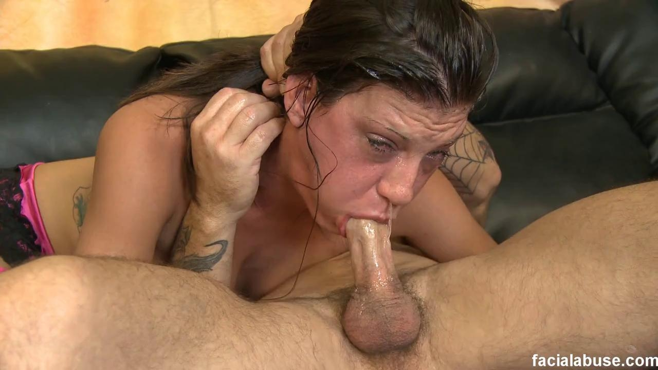 FACIAL ABUSE - CANDI HAS HER THROAT FUCKED IN