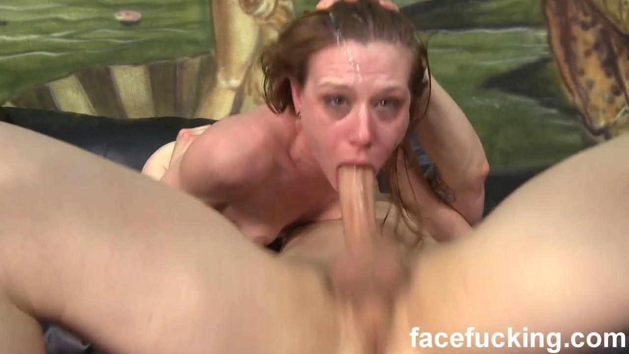 FACIAL ABUSE - WHORE STELLA LEIGH GASPING FOR AIR