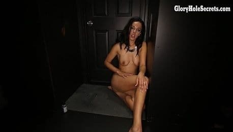 GLORYHOLE SECRETS - EXOTIC DANICA JAMES SWALLOWS CUM
