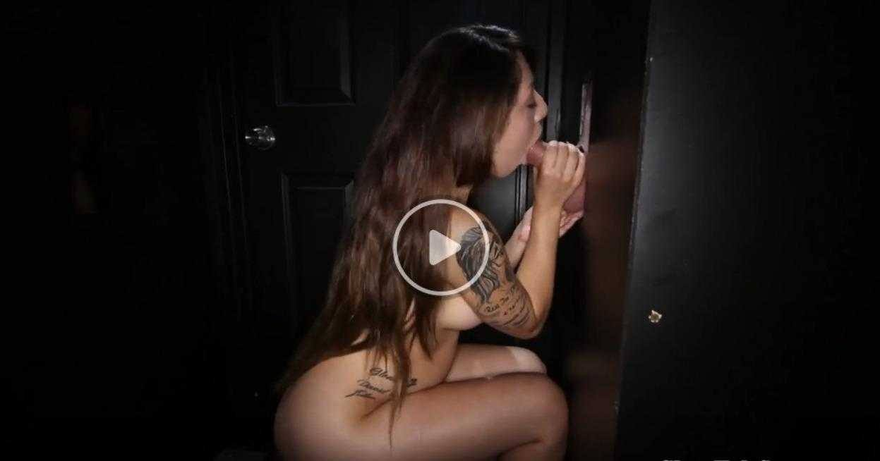 GLORYHOLE SECRETS - HOT COCK SUCKER COURTNEY LOXX 3RD VISIT